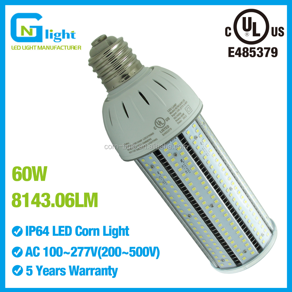 60W LED wall pack lights E40 E39 mogul socket retrofit 320W metal halide canopy fixture 5000K 5500K daylight AC100~277V