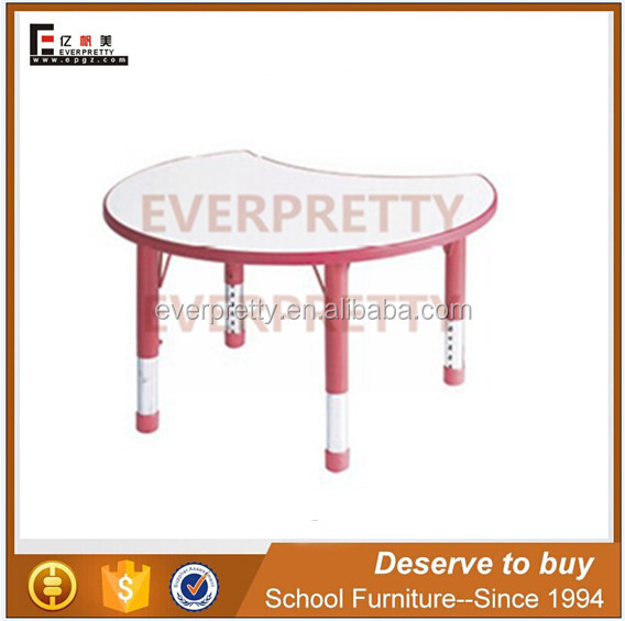 Cheap plastic children's table, plastic study desk kids learning table, wooden study table for children