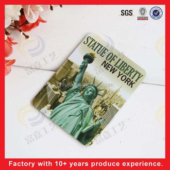 custom embossed metal sign magent, statue of liberty, fridge magnet for USA