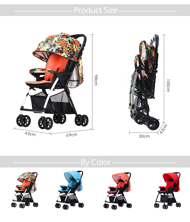 Low price High quality Alibaba hot sale onekey folding free kids baby stroller pram