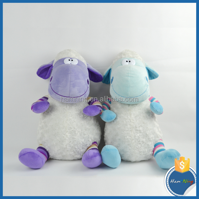 large size carton style plush stuffed sheep educational baby toy cuple toys