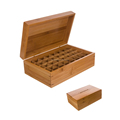 Custom Engraved Logo Bamboo Doterra Oil Box Essential Oil Storage Box
