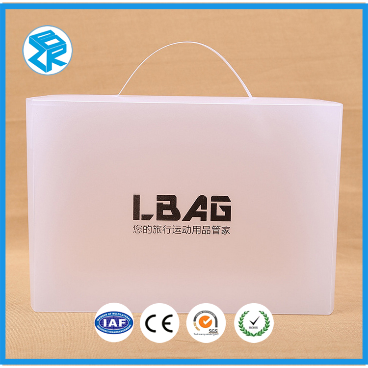 advertisement product blister packaging white folding plastic frosted box