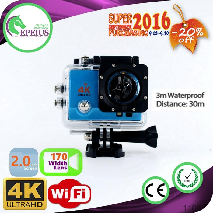 2016 NEW ARRIVAL Q3H REAL 4K WIFI ACTION CAMERA mini cheap kids digital camera 4k MINI WIFI 170 WIDE ANGLE ACTION CAMCORDER