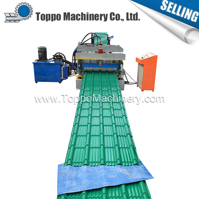 Assured quality Electric glazed galvanized metal roof tile roll forming equipment