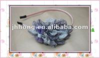 Chiffon flower with ribbon bow headband hair accessories