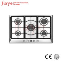 flat top electric stove/ stainless steel kitchen hob 5 burner gas hob JY-S5092