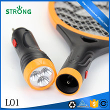 Rechargeable powered mosquito racket