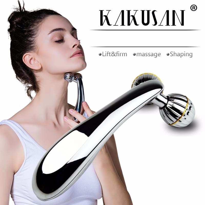Kaksuan portable body massager Y shape 3d maasage roller