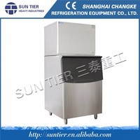SUN TIER italian ice machine/wood fruit crates 100 kg ice cube maker/seafood 100 kg ice cube maker