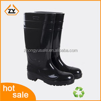PVC shining anti-slip waterproof rubber rain boots, men's safety footwear ,comfort shoes
