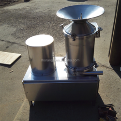 Egg shell separator and liquid cracking machine / egg breaking and separating machine