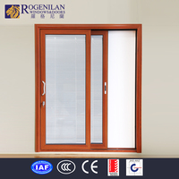 ROGENILAN roller wheel nylon sliding glass door with blinds stops