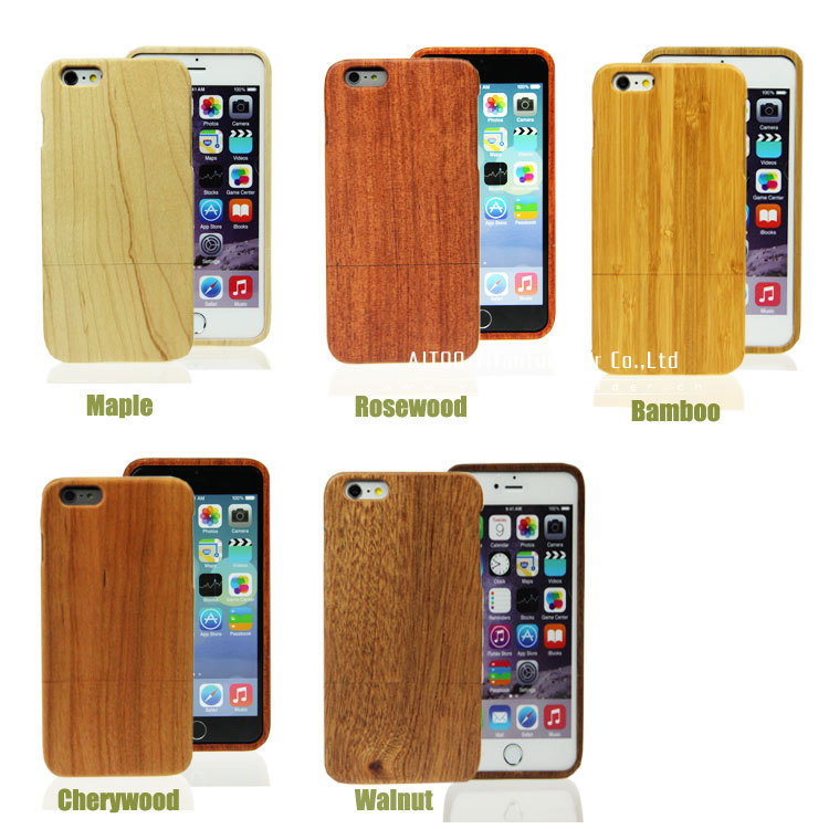Eco-friendly blank wood mobile phone case for iphone 6