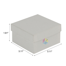 white trustworthy factory paper packaging truffle box with lid
