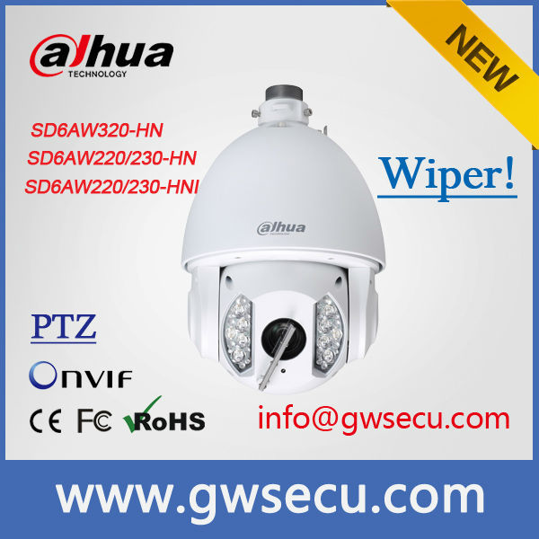 Outdoor pan/tilt/zoom ir wipe dome camera Auto-Tracking IR Wipe dahua ptz Dome Camera