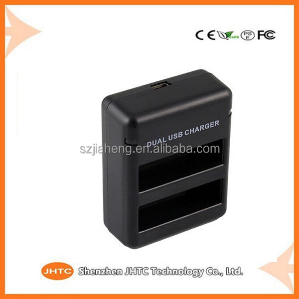 2015 China wholesale battery charger for Gopro Hero4 , Digital Camera Double Battery Charger AHDBT - 401