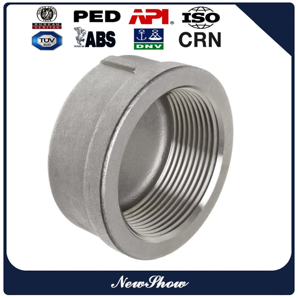 150lbs stainless steel 304 cast iron pipe threaded round end cap