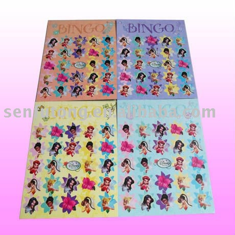 Bingo game paper card