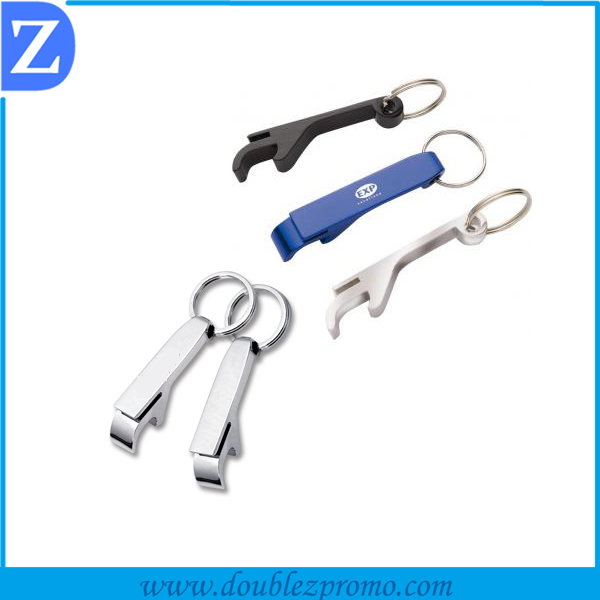 OEM customized zinc alloy bottle opener with keychain