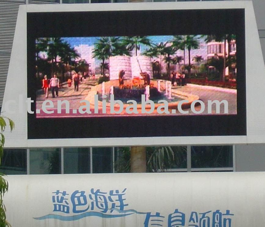 high-resolution LED display of LED Video panel P10 RGB Outdoor fullcolor advertising screen