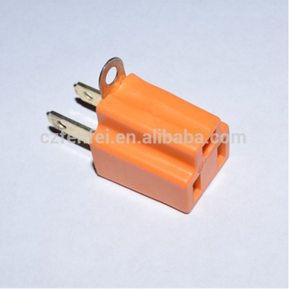 flat pin insert CE multi function travel plug adaptor 2P FLAT AC plug to 3P AC jack