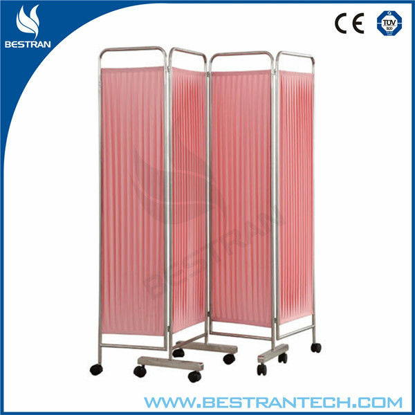China BT-CP001 hospital furniture 4 folding hospital ward bed screen hospital bed curtains