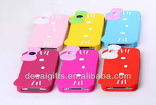 Lovely Hello kitty Silicone Phone Case cover for Iphone 4 & 4S