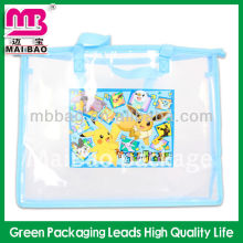 Accept custom order vinyl PVC zipper clear bag with high quality
