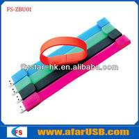 Silicone USB Bracelet with Custom Bracelet USB flash memory bracelet