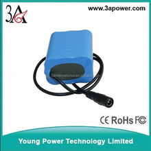 rechargeable battery for led light 1s2p 3.7v rechargeable battery packs 6400mah with bms