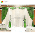 ice silk cheap wedding backdrops fancy curtain