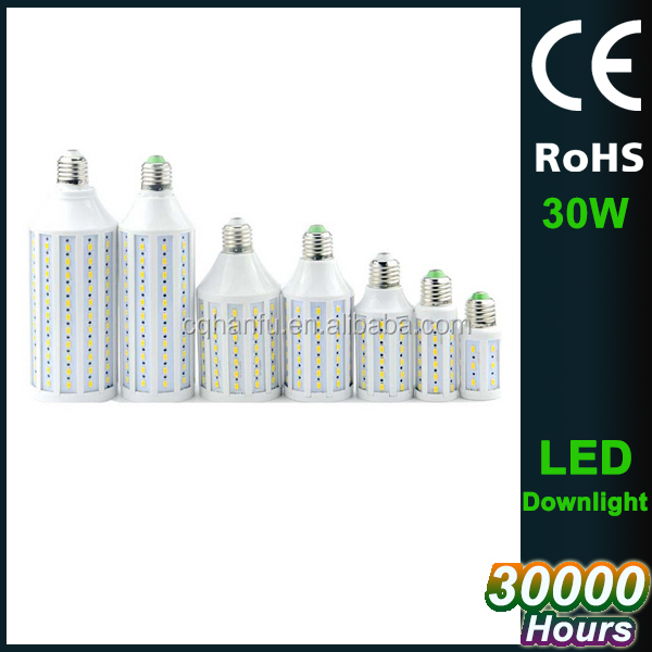 Hot selling Super Bright corn E27/ 30w led light bulbs SMD5730 3000lm wholesale price 30 watt led bulb chongqing