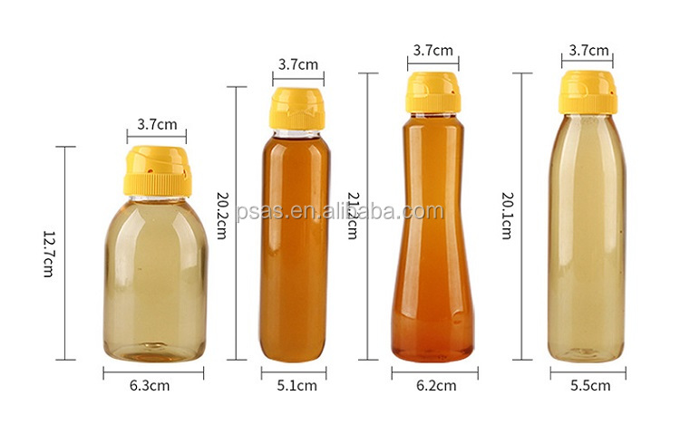 500ml plastic honey bottle with flip top cap