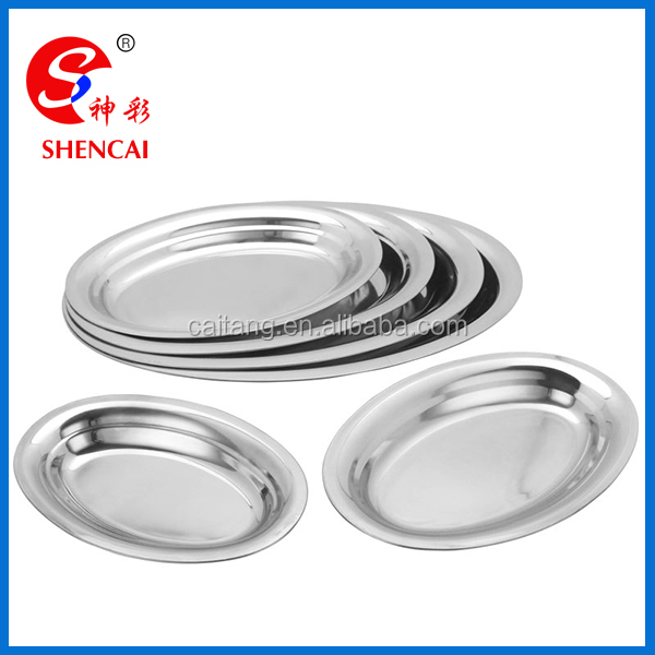 Stainless Steel Oval Plate /Metal Food Tray