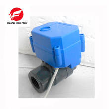 "CWX-60P DN15 1/2"" UPVC female-female thread DC12V CR01 electric valve for drain"