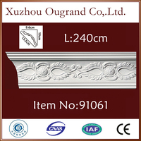 pu wooden fancy corner ceiling moulding for hall decor