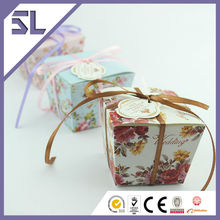 Fashional Flower Pattern Square Paper Gift Packaging Box Wedding Souvenir Favor Wholesale Wedding Supplies