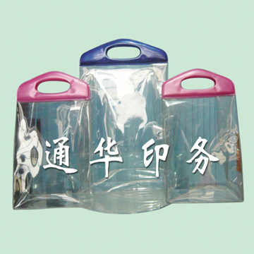 New design clear plastic bags with handles