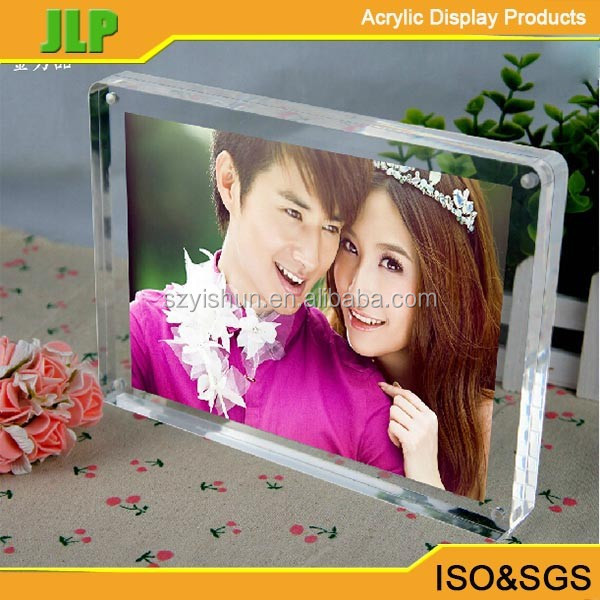 Acrylic round transparent frame table 5 6 7 inches, 8 inches creative wholesale crystal photo frame picture frame