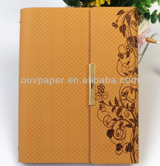 Office&School supply pu leather creative notebook book cover design