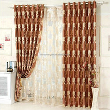 Luxury jacquard voile curtain with sheer curtain fabric