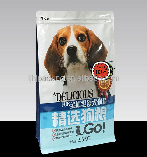 customizable stand up zipper top pets food plastic packing bags
