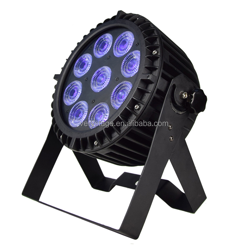 sell Well Ip65 9x12w rgbwa Leds Aluminum Shell Ourdoor Stage Full Color Light Dmx512 Led Par Light