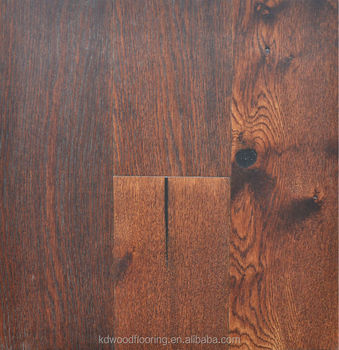 Rustic grade dark color American Oak engineered wood flooring