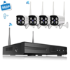 LOOSAFE 4CH 960P wifi cctv system nvr ip66 cctv camera 1.3mp wireless security camera system with audio