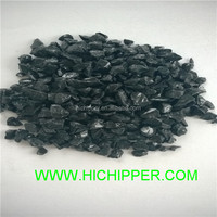 Crushed landscaping recycled black mirror glass chips