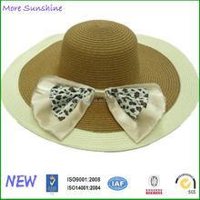 wholesale big bowknot summer straw wide hat custom