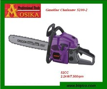 New design gasoline chainsaw 52cc / chain saw 5200 for sale /chain saw machine price