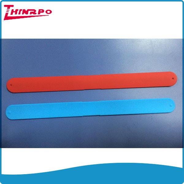 New arrival custom your design logo printed silicone slap band,slap bracelet